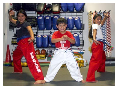 Group of three karate Kid Power Students